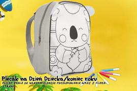 Plecak Koala do własnoręcznego pokolorowania