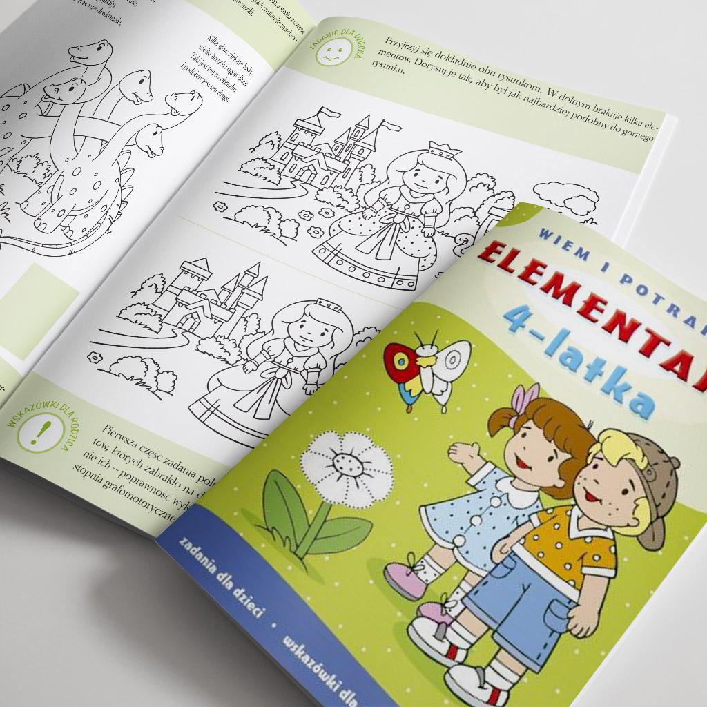 Elementarz 4-latka, książeczka edukacyjna