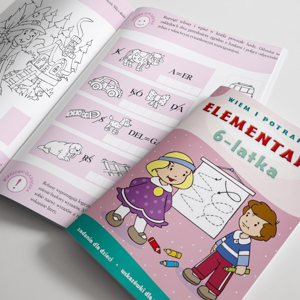 Elementarz 6-latka książeczka edukacyjna