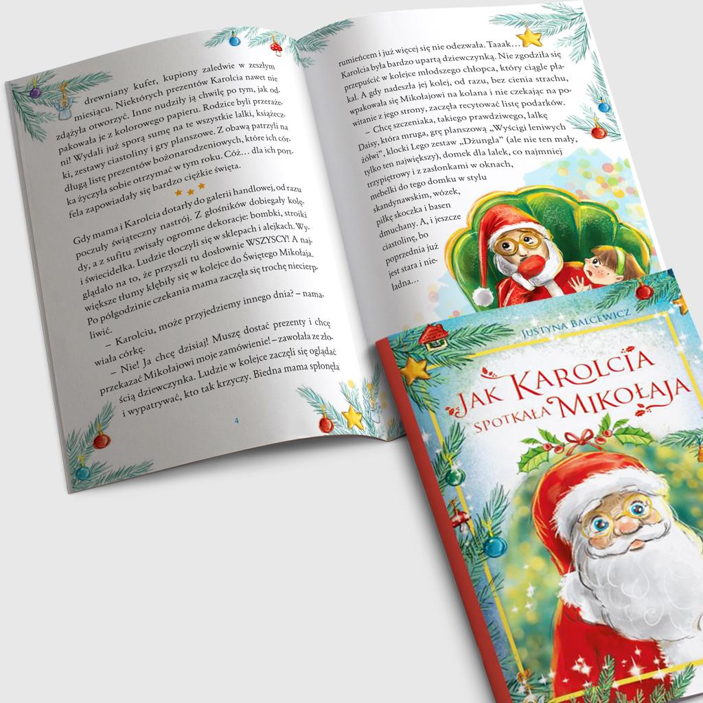 Jak Karolcia spotkała Mikołaja książka