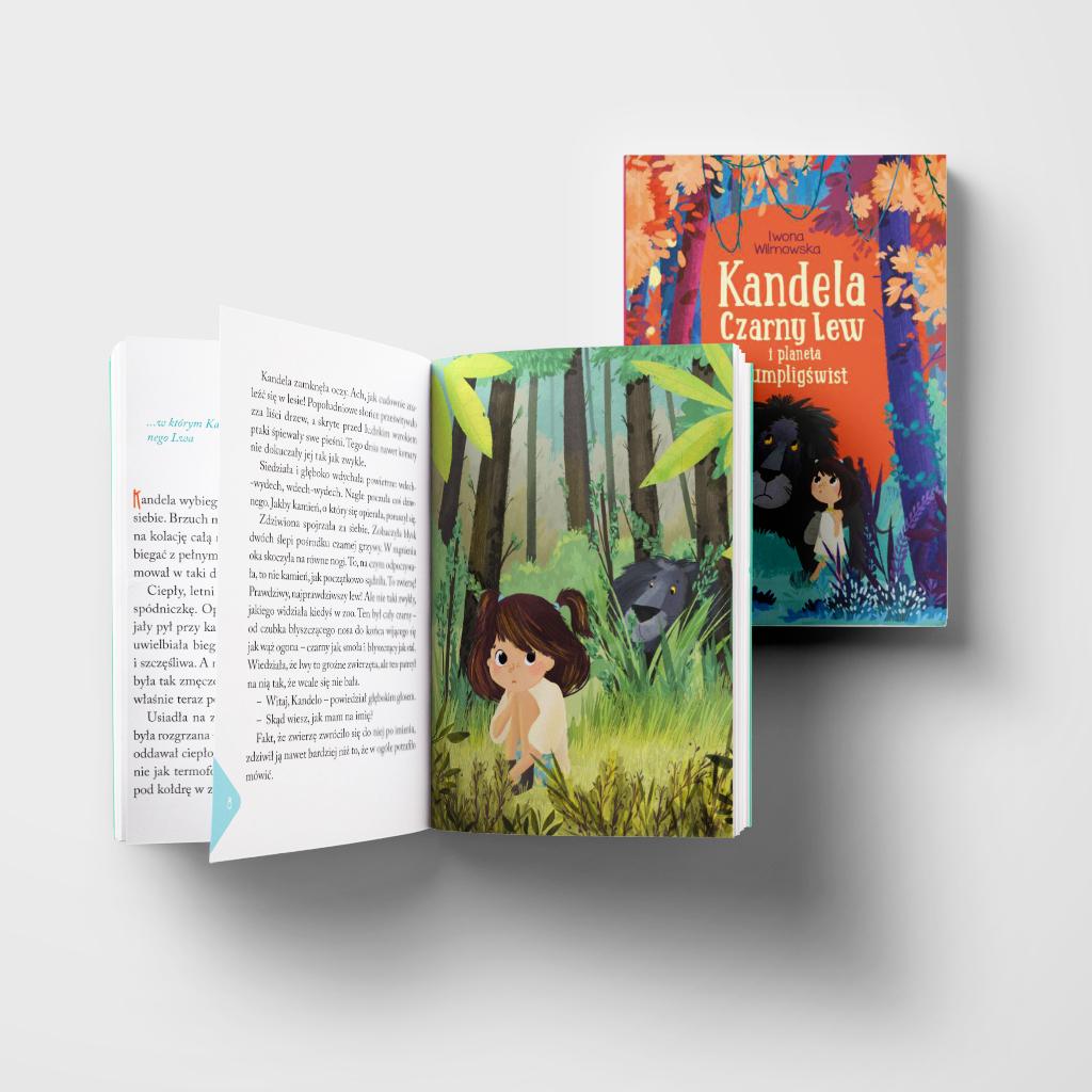 Kandela, Czarny Lew i planeta Kumpligświst-książka