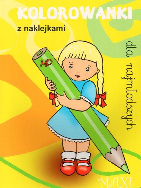 Kolorowanki maxi dla dziewczynki z naklejkami