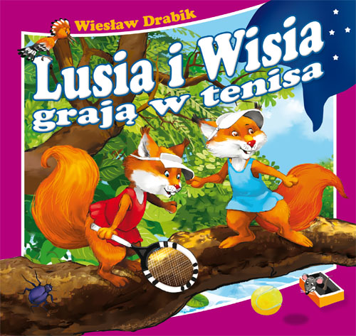 Książeczka do czytania Lusia i Wisia grają w tenisa.