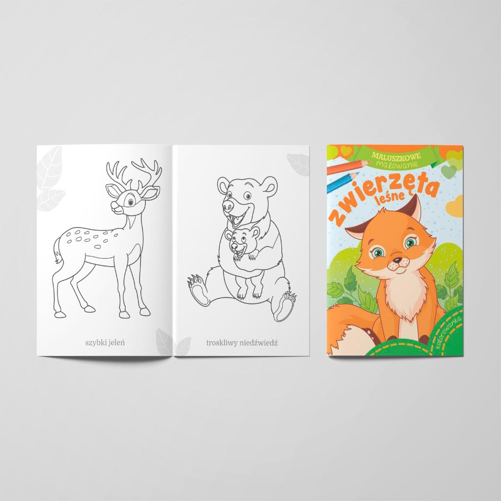Maluszkowe malowanie. Zwierzęta leśne