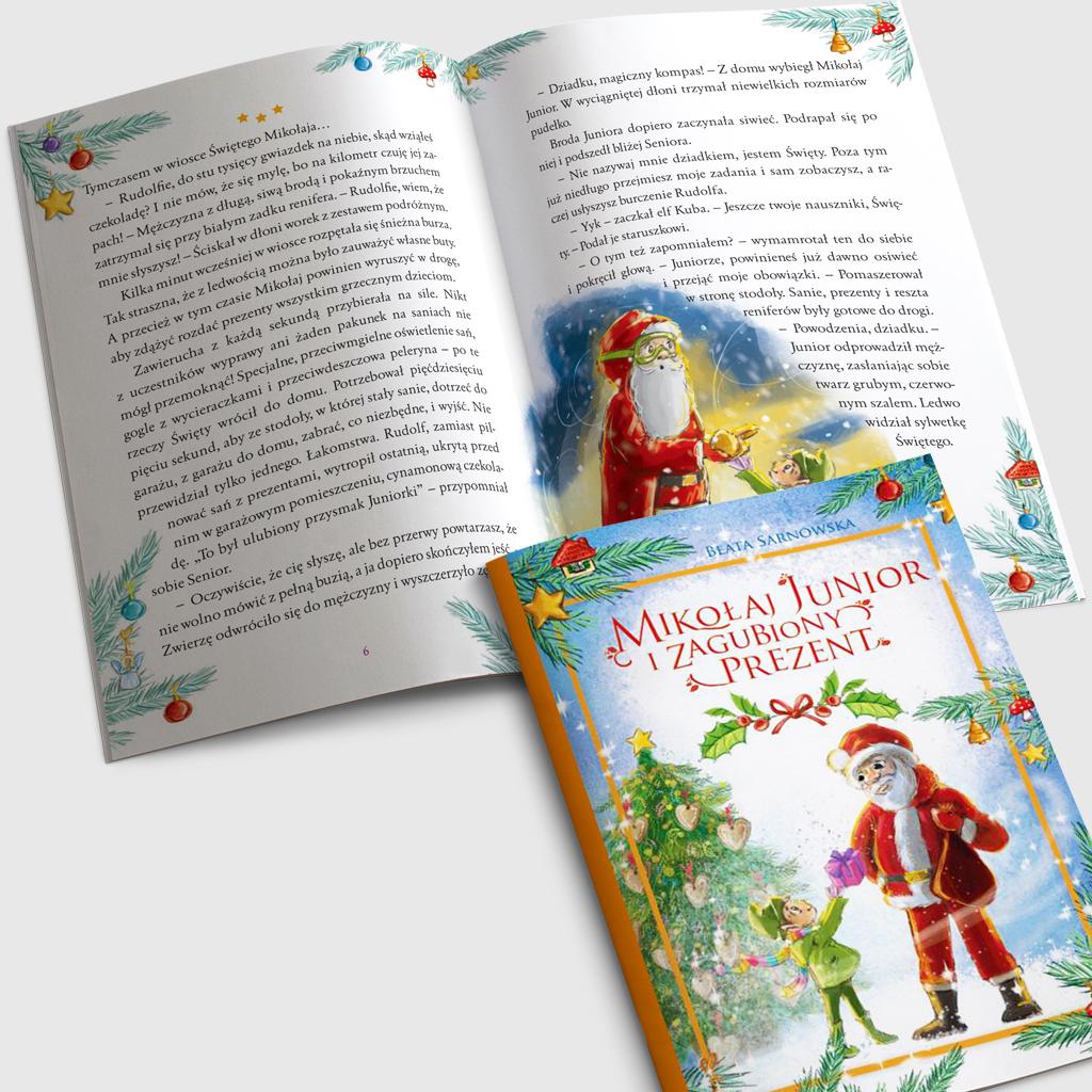 Mikołaj Junior i zagubiony prezent ksiązka