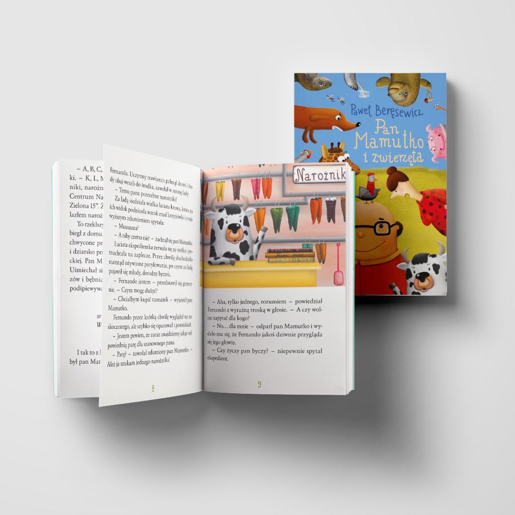 Pan Mamutko i zwierzęta książka