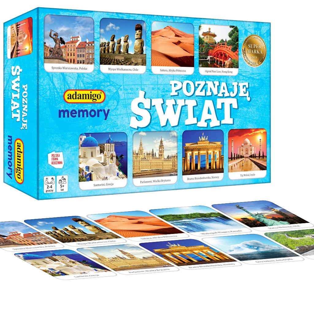 POZNAJĘ ŚWIAT - memory gra mini