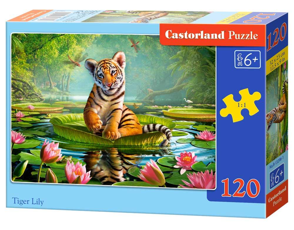 Puzzle 120 el. Tygrys
