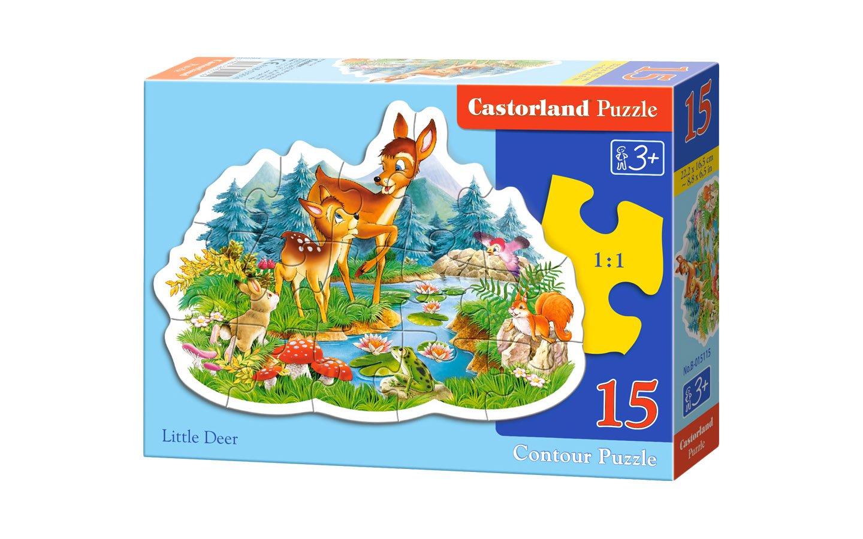 Puzzle 15 el. Małe Jelonki