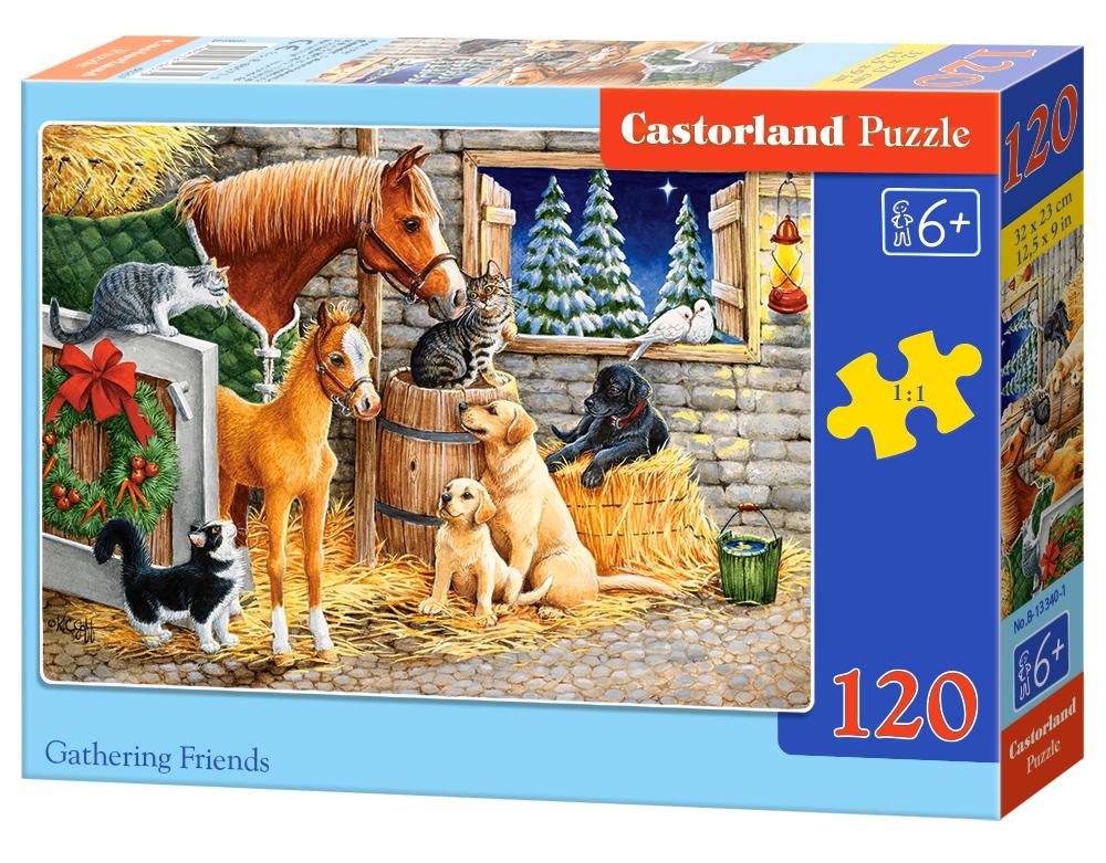 Puzzle 120 el. przyjaciele w Stajni