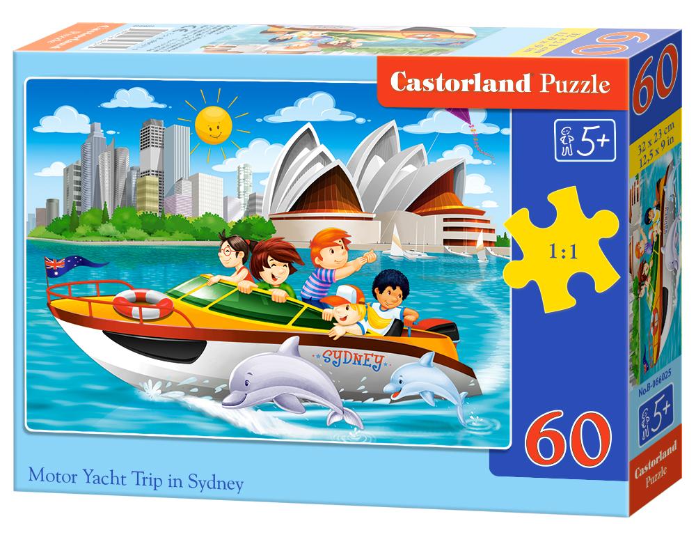 Puzzle 60 el. wyprawa jachtem po Sydney