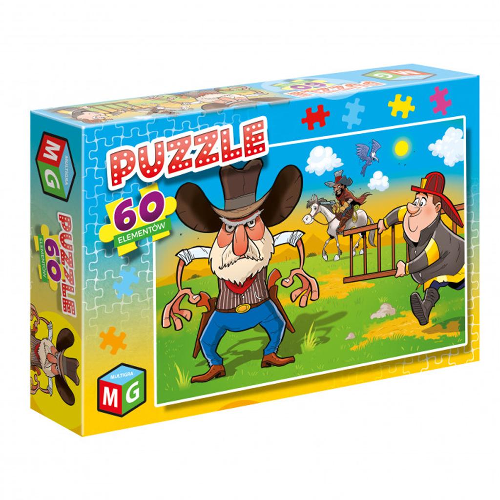 Puzzle kowboje i strażacy 60el