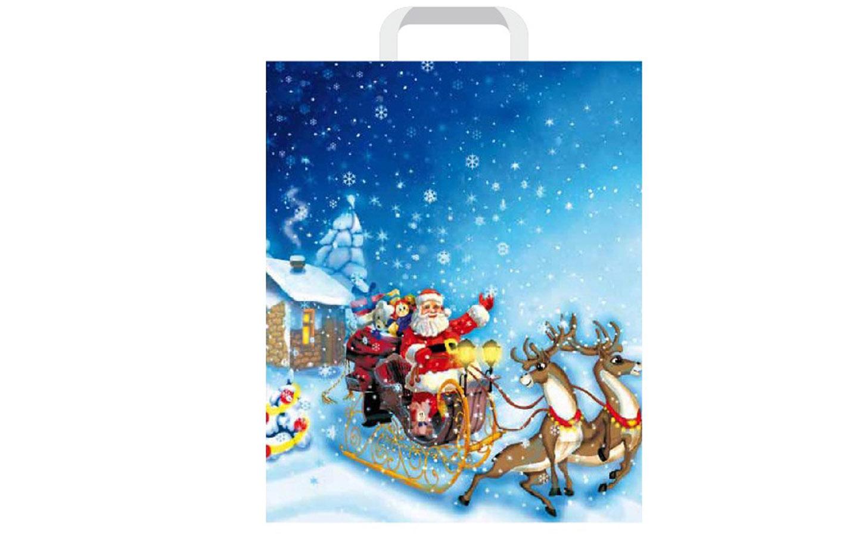 Reklamówka z Mikołajem