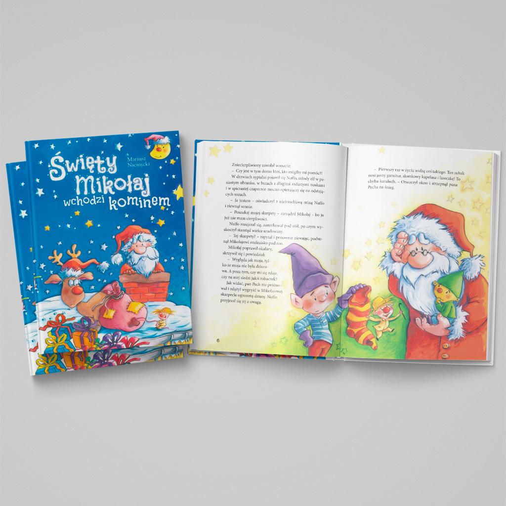 Święty Mikołaj wchodzi kominem książka